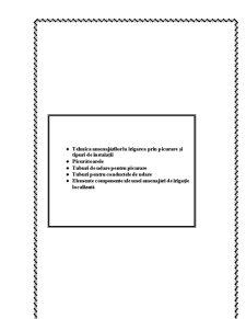 Caracteristici Constructive și Funcționale ale Componentelor Rețelei de aducțiune-distribuție pentru Irigarea prin Picurare - Pagina 1