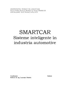Smartcar - Sisteme Inteligente in Industria Automotive - Pagina 1
