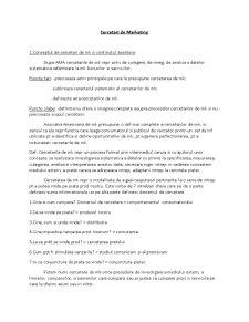 Cercetari de Marketing - Pagina 1