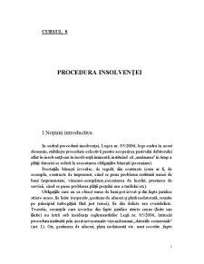 Procedura Insolvenței - Pagina 1