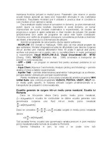 Cercetarea Experimentala si Modelarea Matematica a Poluarii Solului si a Apelor Subterane cu Compusi ai Azotului - Pagina 2