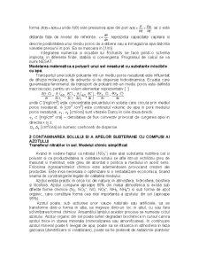 Cercetarea Experimentala si Modelarea Matematica a Poluarii Solului si a Apelor Subterane cu Compusi ai Azotului - Pagina 3
