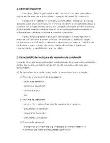 Tehnologia Lucrarilor de Constructii - Pagina 1