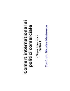 Organizarea Mondiala a Comertului - Pagina 1