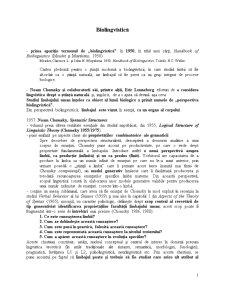 Biolingvistică - Pagina 1