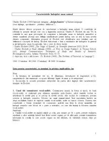 Caracteristicile Limbajului Uman Natural - Pagina 1