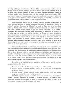 Problematica Schimbarii in Limba - Tipologia Schimbarii in Limba - Pagina 3