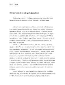Antropologia Culturala - Pagina 1
