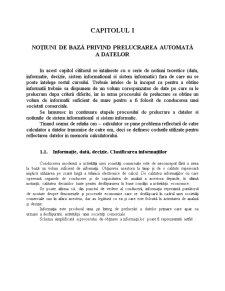INFORMATICA - Notiuni de Baza privind Prelucrarea Automata a Datelor - Pagina 1