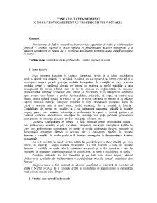 Contabilitatea de Mediu - Pagina 1