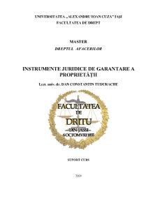 Instrumente de Garantare a Proprietatii - Pagina 1