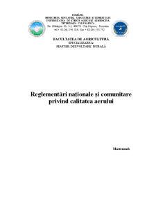 Reglementări Naționale și Comunitare privind Calitatea Aerului - Pagina 1