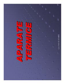 Aparate Termice - Pagina 1