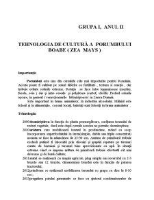 Tehnologia de Cultură a Porumbului Boabe - Pagina 1