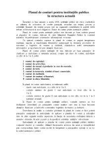 Planul de Conturi pentru Instituțiile Publice în Structura Actuală - Pagina 1