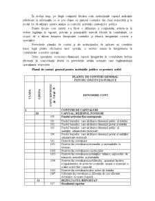 Planul de Conturi pentru Instituțiile Publice în Structura Actuală - Pagina 2