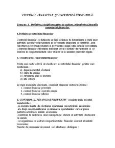 Control Financiar și Expertiză Contabilă - Pagina 1
