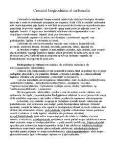 Circuitul Biogeochimic al Carbonului - Pagina 1