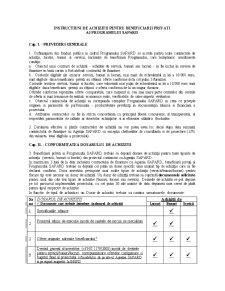 Instructiuni de Achizitii pentru Beneficiarii Privati ai Programului Sapard - Pagina 1