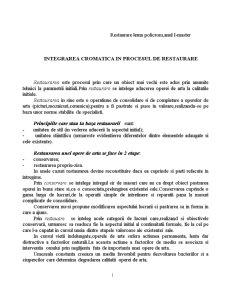Integrarea Cromatica in Procesul de Restaurare - Pagina 1