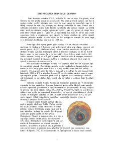 Distrugere Stratului de Ozon - Pagina 1