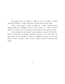 Evaluarea unui Proiect de Investitii in Domeniul Farmaceutic - SC Biofarm SA - Pagina 2