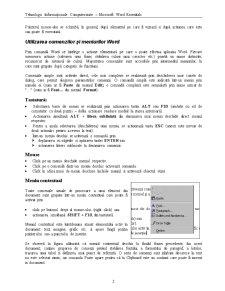 Tehnologii Informaționale Computerizate - Microsoft Word Essentials - Pagina 2