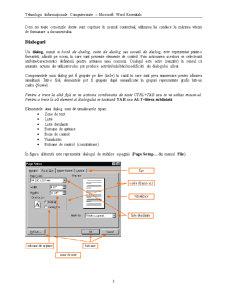 Tehnologii Informaționale Computerizate - Microsoft Word Essentials - Pagina 3