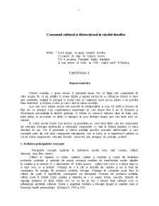 Consumul Cultural și Distracțional în Rândul Tinerilor - Pagina 1