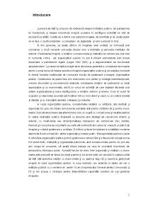 Strategii de Refacere a Imaginii unei Organizatii Afectate de Criza - Pagina 1