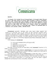 Comunicarea - Pagina 1