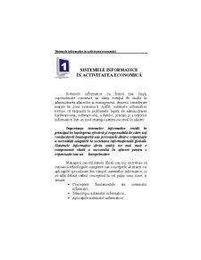 Sisteme Informatice - Pagina 1
