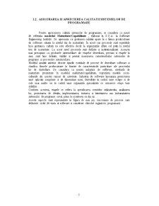 Asigurarea, Planificarea si Controlul Calitatii Produselor Softweare - Pagina 5