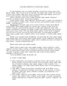 Poluarea Mediului si Sanatatea Umana - Pagina 1