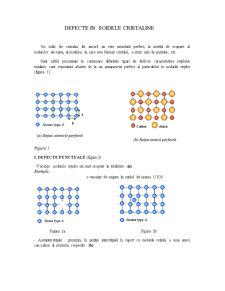 Defecte în Solidele Cristaline - Pagina 1