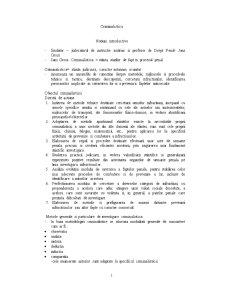 Curs Criminalistica - Pagina 1