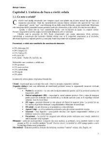Biologie Celulara - Pagina 1
