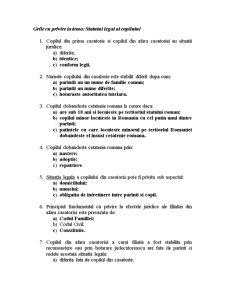 Grile Dreptul Familiei - Pagina 1