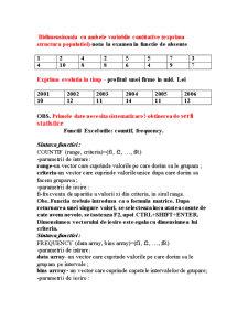 Prelucrarea Statistica  a Datelor, Asistata de Calculator - Pagina 3