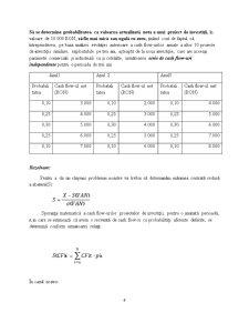 Criteriul VAN în Mediul Probabilistic - Pagina 4