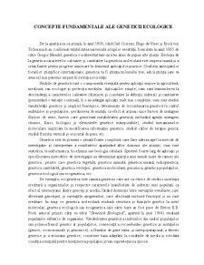 Genetica Ecologică - Pagina 1
