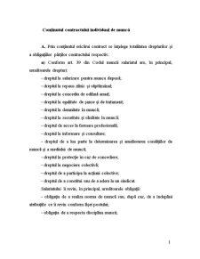 Continutul Contractului Individual de Munca 2011 - Pagina 1
