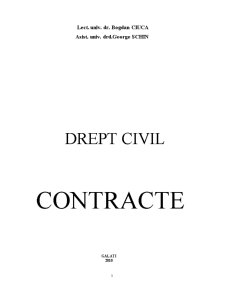 Drept Civil. Contracte - Pagina 1