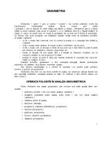 Gravimetrie - Pagina 1