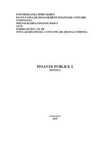 Finante Publice 2 - Sinteza - Pagina 1