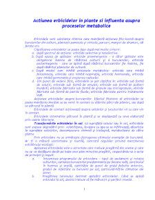 Actiunea Erbicidelor in Plante si Influenta asupra Proceselor Metabolice - Pagina 1