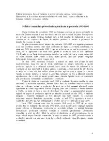 Politica Comerciala a Romaniei in Domeniul Agroalimentar - Pagina 4