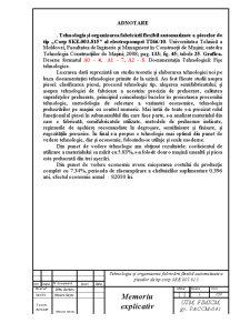 Diploma de Licenta - Tehnologia si Organizarea Fabricarii Flexibil Automatizate a Pieselor - Pagina 1