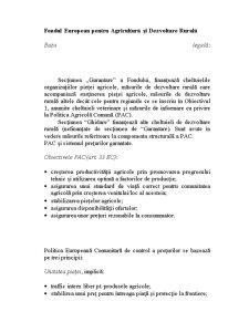 Fondul European pentru Agricultură și Dezvoltare - Pagina 1