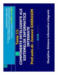Componente Inteligente ale Sistemelor Informatice - Pagina 1